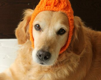 Halloween Dog Hat, Pumpkin Hat for Dogs, Halloween Dog Costume, Pumpkin Dog Hat, Halloween Dog Outfit, Pumpkin Hat for Large Breed Dogs
