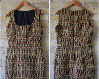 HANDMADE Vintage Zig Zag Dress From the 60's