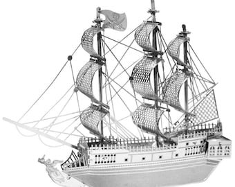3D Metal Model Kit - Black Pearl Pirate Ship by Metal Earth