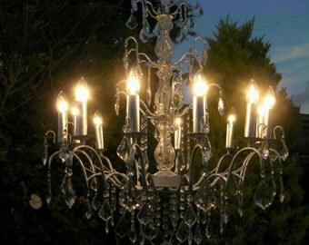 Astounding  ~  huge elegant 13  Light crystal chandelier