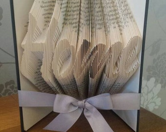 Home book fold, folded book art, bookfold, home folded book, house warming gift, New home
