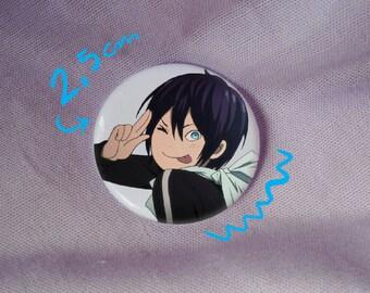 yato yatogami noragami yato god cute funny kawaii anime manga badge pin button