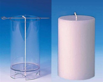 Pillar Candle Mold. Flat Top Polycarbonate Candlemaking Mold, Seamless. Clear Candle Mold. Transparent Plastic Candle Making Molds.
