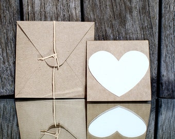 10 Plantable Thank You cards, Seed paper card, Seed bomb recycled card & envelop, Flower seed favours, Wedding thank you card