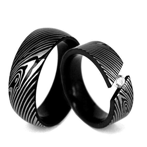 Damascus Steel Ring Wedding Band Genuine Craftsmanship |Damascus Steel Rings For Women