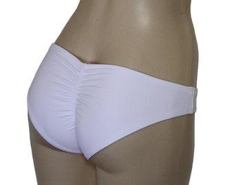 "Bikini bottom ""Basic Scrunch"", scrunch back bottom, scrunch butt swimsuit, scrunchy bathing suit."