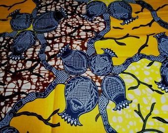 African Wax Print Fabric by the Half Yard