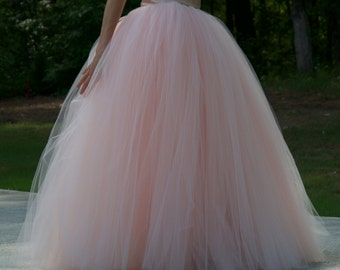 Wedding dress,maxi tulle skirt,Floor length tutu skirt,Adult tulle skirt,Custom made Wedding dress MyFabBoutique! Ivory Wedding tulle skirt