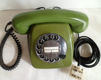 "Vintage 1978 Rotary Dial Desk Telephone ""DFG"". Made in 1978."
