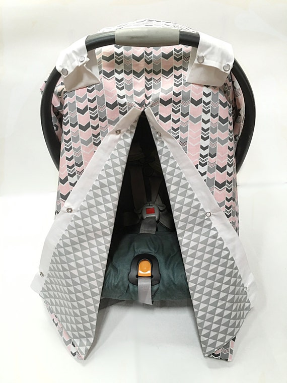 Girls Car Seat Cover Car Seat Canopy Girl Pink And Gray