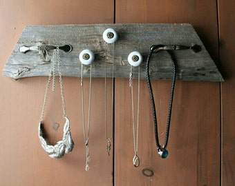 Reclaimed barn board  Necklace holder