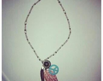 Handmade hippie hemp necklace