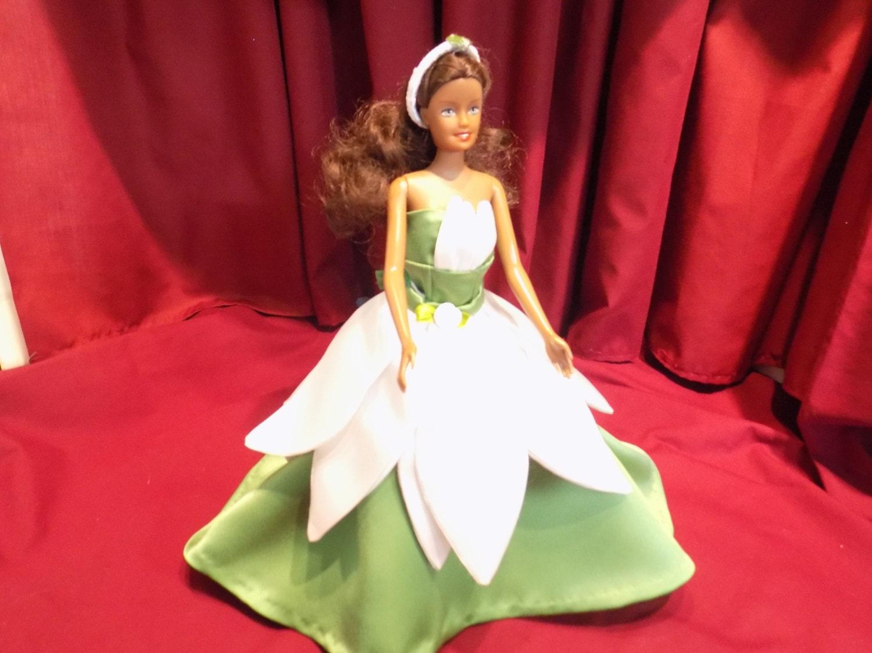 Barbie princess tiana inspired wedding dress for Princess tiana wedding dress