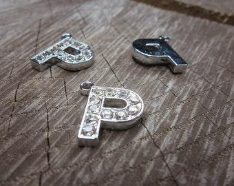 Letter P Pendant Charms ~1 pieces #100602