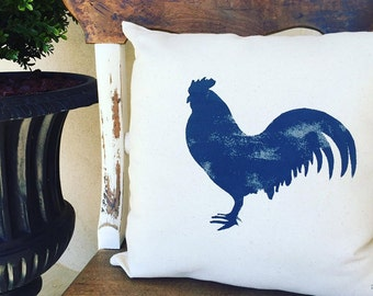 Throw Pillows/Rooster Pillow/Farmhouse Decor/Farmhouse Pillow/Burlap Pillow/Rustic Decor/Country Rooster/Rooster