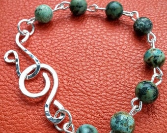 Green African Turquoise Bracelet