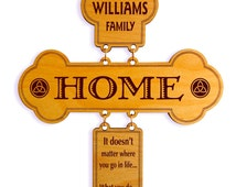 Last Family Name Decorative Cross, Custom Wood Wall Crosses, Christian Gift, Wedding / Anniversary gifts, The Love for Family Wall Decor.
