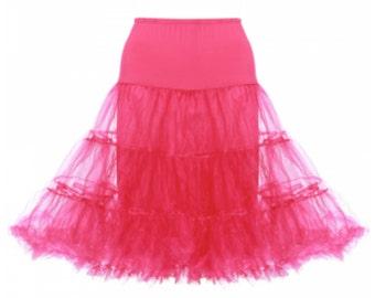 1950s bright pink dance net tulle swing underskirt petticoat size 6 - 12