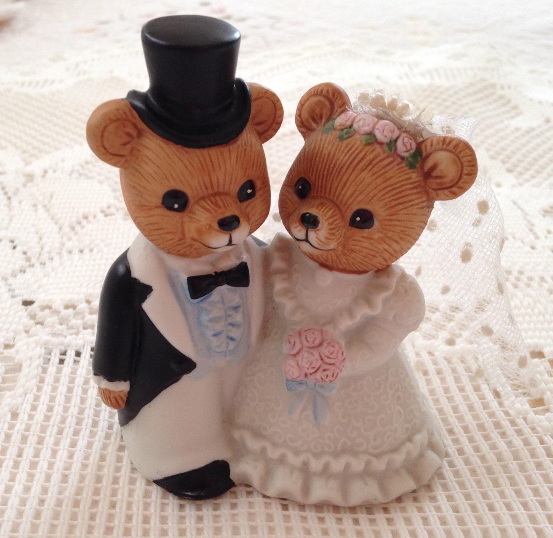 Vintage Homco Wedding Bears Home Interiors Wedding Bear Bear