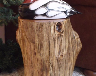 Live Edge Stump Table - Oak Stump Table - Rustic Table - Stump Stool - Log Stump - PRICE REDUCED!!