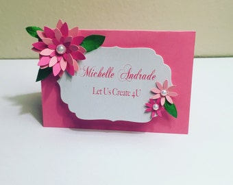 Place Card- Flower Place Card- Birthday