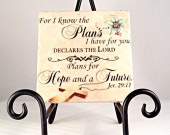 Jeremiah 29:11 Coaster Set ( includes 4 tiles)