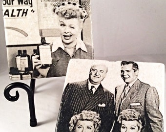 I Love Lucy Coaster Set (includes 4 tiles )