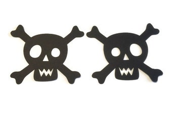 25 Skull and Crossbones Die Cut Tags, Pirate Theme Baby Shower, Pirate Theme Birthday Party, Pirate Party, Pirate Decor, DIY