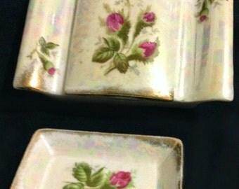Norcrest Japan Rose Trinket Box