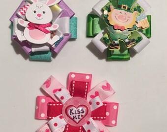 Holiday 3 bow gift set