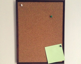 Wood Framed Cork Board / Memo Board / Home Message Home Organizer