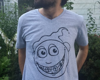Brace Face T-Shirt Happy Funny Whimsical Braces Tin Grin