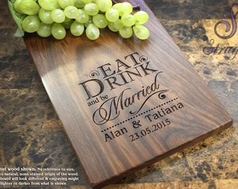 Personalized Cheese Board, Engraved Cheese Plate - Wedding Gift, Anniversary Gifts, Housewarming Gift, Birthday Gift, Corporate Gift. 012