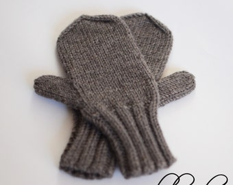 Knitted Baby Mittens, Warm Toddler Mittens, Merino Wool Kids Mittens, Children Winter Mittens, Hand Knit Toddler Mitts, Toddler Boy Mittens