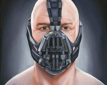 BANE - Original Oil Painting - Batman - The Dark Knight Rises - Tom Hardy