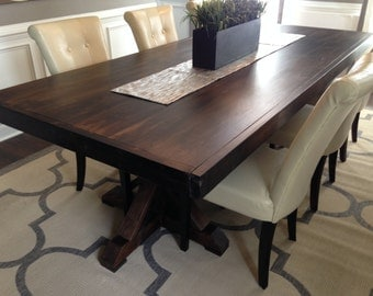 Custom Made Rustic Trestle Farm Table - Up to 8' Length!!!