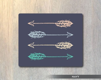 Mouse Pad Arrows - Tribal Arrows Mouse Pad - Arrow Computer or Office Work Station Decor