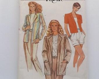 Vogue 7986 . Misses' Jacket . Size 12 Short and long length,  pockets