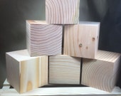 Lawn Yard Dice Blanks 6 blocks square edges paint your own  yahtzee farkle Drilled or Blank