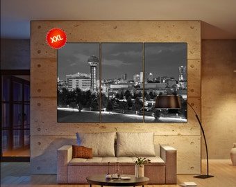 Knoxville canvas art prints large wall art black white canvas print Knoxville, Tennessee, USA. City Cityscape skyline City Office Decor