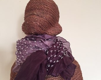SALE - was 47.00   Handmade Habotai Silk Tie-dye Scarf