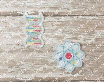 DNA & Atom (set of 4) UN-CUT