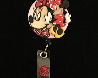Minney Miyse Curtsy -Nurse Retractable ID Badge Reel/ RN Badge Holder/Doctor Badge Reel/Nurse Badge Holder/Nursing Student Gift