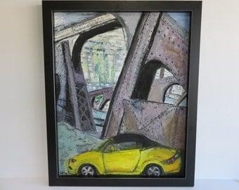 Oil Painting By Anne Zuckerberg Of The 57th Street Bridge.