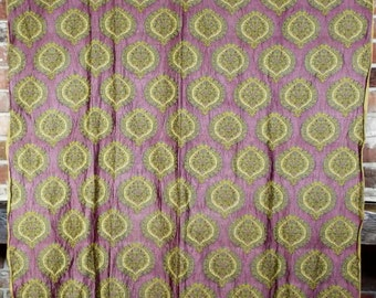 Vintage Textile French Woven Silk Brocade Pomegranates
