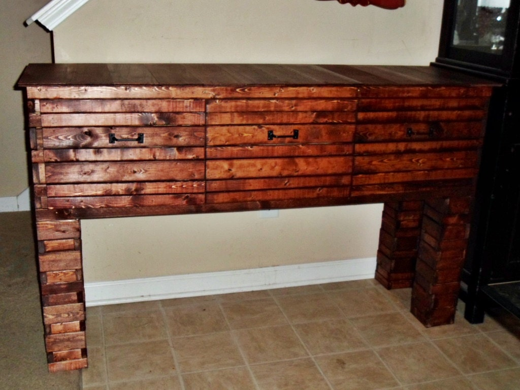 Rustic wood buffet dining room buffet table entryway table for 12 inch deep buffet table