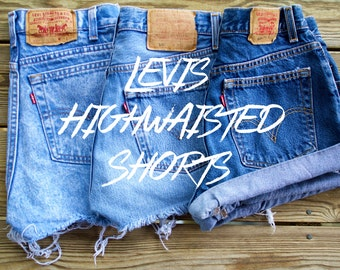 Levis High Waisted Shorts Custom