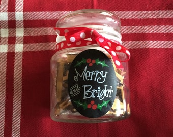English Toffee in a decorative glass jar