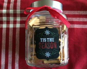 English Toffee in decorative glass jar