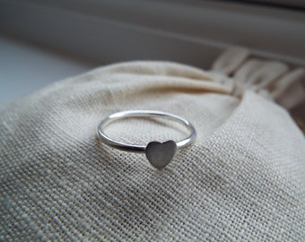 Handmade Textured Heart Ring